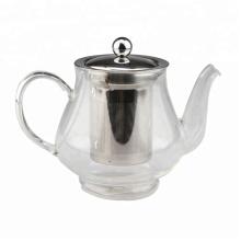 Glas-Teekanne mit Edelstahl-Infuser