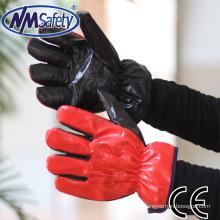 NMSAFETY tissu de gant imprégné de nitrile pour l'hiver