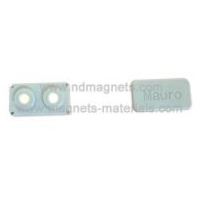 Block Magnetische Abzeichen mit weißer Farbe