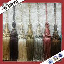 Borla decorativa, hilo de poliéster borla pequeña de textil y cortina de casa