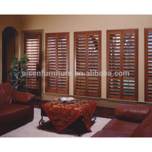 Customerized Home Decor Plantation wooden inner window shutter for living room