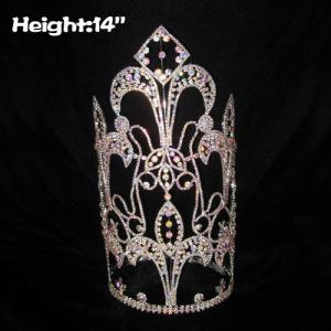 14 in de altura, grandes coronas de cristal de alto desfile con diamantes AB