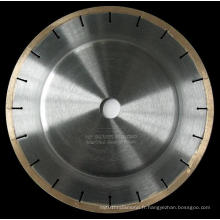 Lame de scie à diamant brasé argenté de 250 mm pour la pierre de coupe
