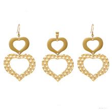 S-370 xuping 24k ensembles de bijoux en forme de coeur de mode
