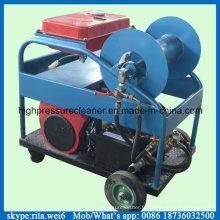 Machine de nettoyage de tube de drain à haute pression de moteur à essence