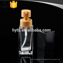 30ml glass square shape foundation packaging bottle for cream
