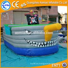 Personalizada halloween pirata buque inflable saltadores bouncers para niños