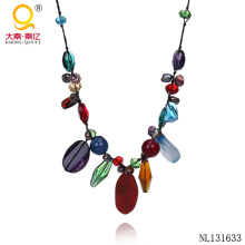 Fancy Jewelry Gemstone Colorful Necklace
