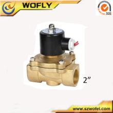 2 pulgadas de latón de agua normalmente cerrada válvula solenoide para riego temperatura normal media presión