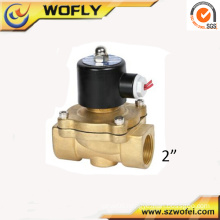 2 inch brass normally closed water solenoid valve for irrigation normal temperature medium pressure