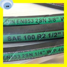 Manguito hidráulico de trenza de alambre de calidad superior SAE 100 R2 at / DIN En 853 2sn