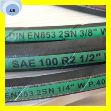 Tuyau hydraulique de tresse de fil de qualité supérieure SAE 100 R2 à / DIN En 853 2sn