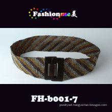 2013 new arrival ladies braided beaded belt