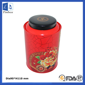 Round Loose Tea Tins Packaging