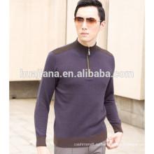 Кашемир 2017 дизайн мода мужская молния свитер