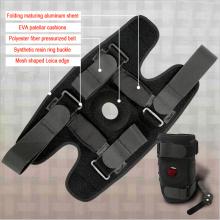 Folding type aluminum plate damping kneepad