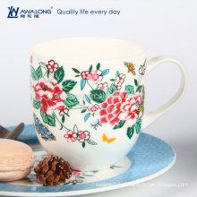 Caneca de café real cerâmica floral caneca de chá do agregado familiar da porcelana