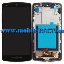 para LG Nexus 5 D820 Pantalla LCD y digitalizador con carcasa delantera