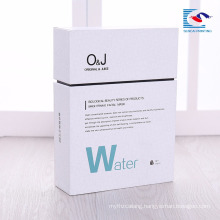 Custom logo high quantity cosmetic cardboard magnetic box with insert