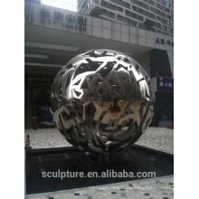 Große moderne berühmte Kunst Edelstahl Kugel Skulptur für Gartendekoration