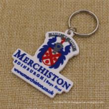 Personalizado Merchiston Castle School PVC macio Keychain para estudantes