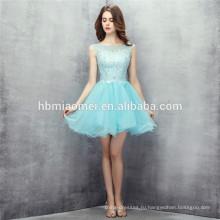 2017 лучшее качество подгонянные мятный цвет с коротким дизайн шифон платье невесты