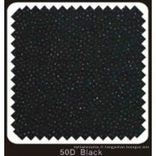 Interligne fusible tissé double DOT de couleur noire (noir 50D)
