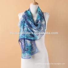 Itália Paisley Georgette lenço de seda longa