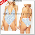 OEM 2016 Fabric Ladies Sexy V Shape One Piece Swimwears