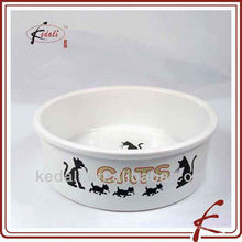 PORCELAIN PET BOWL WITH DECAL TOS076-9-A673