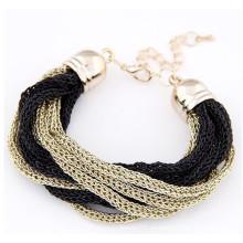 2015 moda pulsera de oro nueva diseña pulsera de cadena de damas