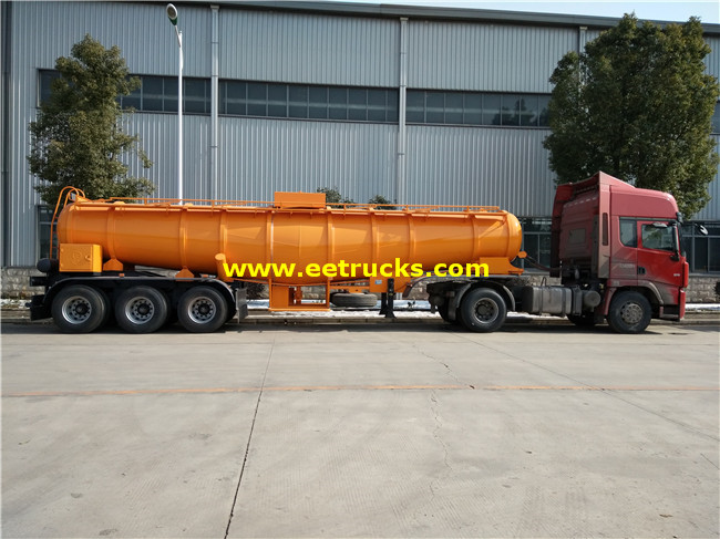 Sulfuric Acid Delivery Tanker Trailers