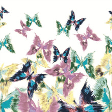 100% Silk Digital Print Silk Fabric (SZ-0013)