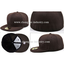 Custom blank flex fit baseball flat brim cap