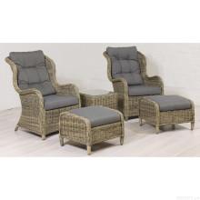 Loisirs de jardin osier ensemble de meubles de Patio extérieur rotin