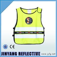 Hola viz chaleco de seguridad reflectante de hilados elásticos bajo para los niños