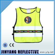 hi viz low elastic yarn reflective security vest for children
