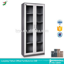 bookcase steel with glass