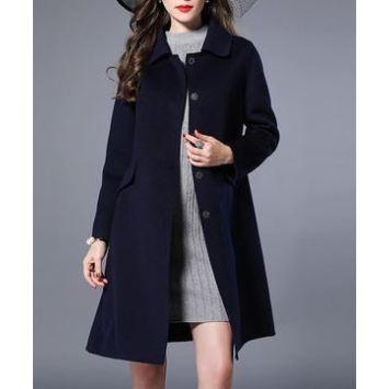 Women's Cashmere Knee Length Overcoat