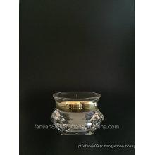 Foret en forme de diamant / UFO Shape Cream Jar pour l'emballage cosmétique