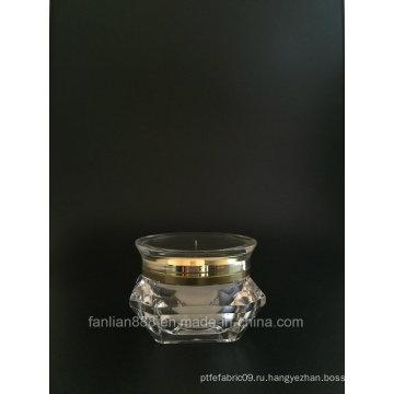 Алмазная форма / НЛО Форма Кремовая банка для косметической упаковки
