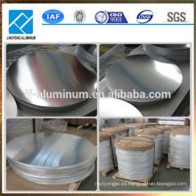 1050 1060 1100 3003 3004 Aluminio Disco Círculo de aluminio para utensilios de cocina y utensilios
