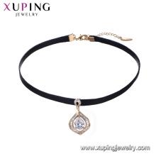 44236 форме капли воды с алмазной подвеска кожа колье ожерелье ювелирные изделия девушки мода