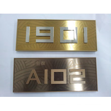 Hotel or Office Stainless Steel Doorplate