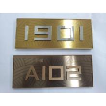 Hotel or Office Stainless Steel Doorplate
