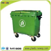 Poubelle extérieure en plastique écologique 660L
