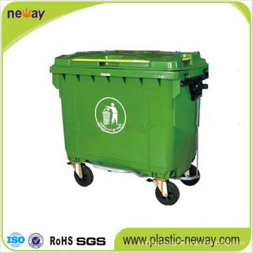 Caixote do lixo exterior plástico Eco-Amigável 660L