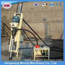 Electric rock drill frame