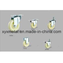 Roulette pivotante à roulement fixe / pivotante. Mute Design Ppwheels Meduim Duty Caster