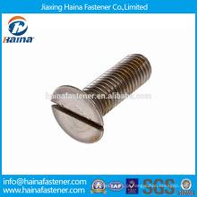 Em estoque Alibaba China Fornecedor DIN7969 Aço de carbono / aço inoxidável Parafuso de cabeça escareado ranhurado com zinco chapeado / BO